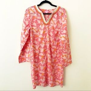 LILLY PULITZER Pink & Orange Palm Cotton Dress